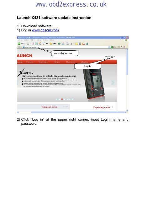 Launch X431 software update instruction - Car diagnostic tool