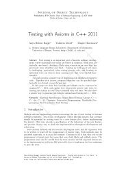 Testing with Axioms in C++ 2011 - Bergen Language Design ...