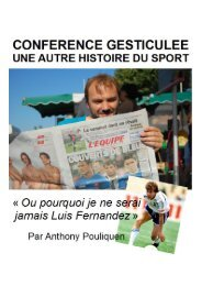 Conférence gesticulée : une autre histoire du sport Ou pourquoi je ...