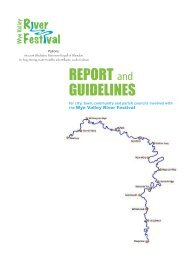 REPORT and GUIDELINES - Wye Valley AONB