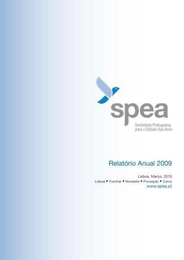 Relatório de Atividades e Contas de 2009 - spea
