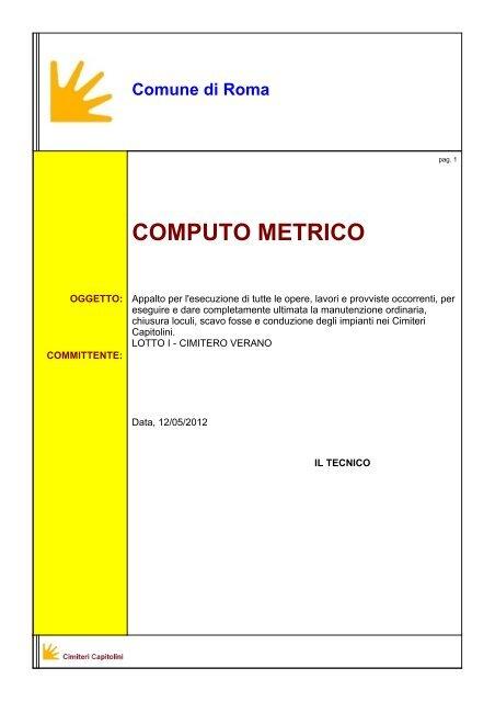 SCARICARE COMPUTO METRICO DA