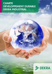 Lire la charte de développement durable DEKRA - DEKRA Industrial