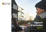 rapport d'activités 2011 - Terragir
