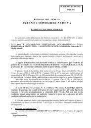 Bando ortottista - Azienda Ospedaliera di Padova