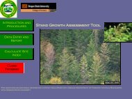 Stand Growth Assessment Tool - Oregon State University