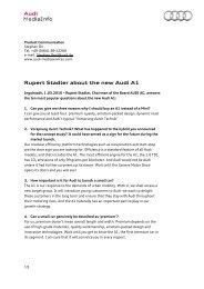 Rupert Stadler about the new Audi A1