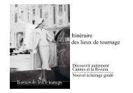Itinéraire des lieux de tournage (pdf 1,2 Mo) - Cannes