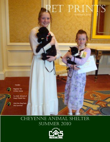 Summer 2010 Newsletter - Cheyenne Animal Shelter
