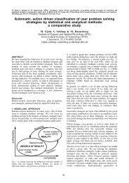 Automatic, action driven classification of user problem solving ...