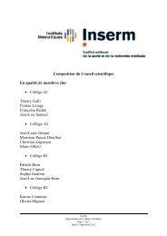 Composition du Conseil scientifique En qualité de membres élus ...