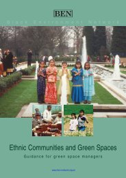 Green Spaces Brochure - Black Environment Network