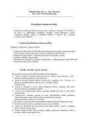Pravidla pro hodnocení žáků - Harrachov