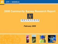 2008 Community Survey Research Report - City of Gosnells