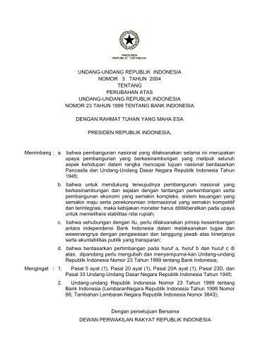 undang-undang republik indonesia nomor 3 tahun 2004 tentang ...