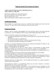 Diagnostic Agenda 21 de la commune de Clapiers Compte rendu ...