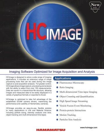 Image Processing and Analysis Tools - Hamamatsu Photonics
