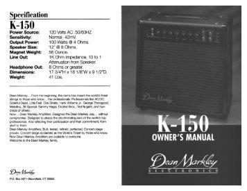 K-150-M - Dean Markley