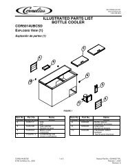 illustrated parts list bottle cooler cor5014ubcsd exploded view (1)