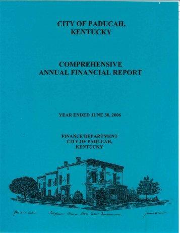 CAFR June 30, 2006.pdf - City of Paducah