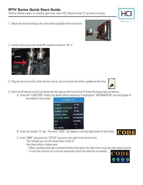 IPTV Series Quick Start Guide - Hci