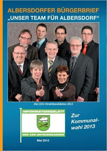 Bürgerbrief Albersdorf 2013