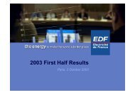 EDF Group 2003 Half-year Results (PDF, 218 Kb) - Shareholders ...