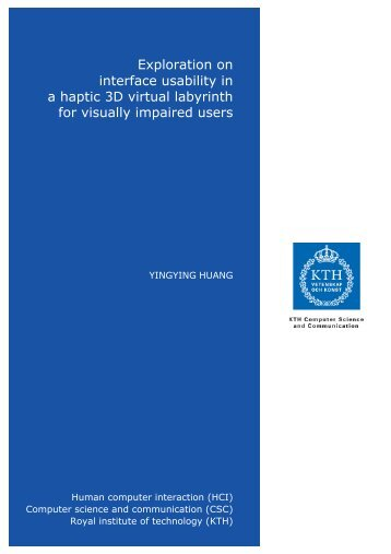 exploration on interface usability in a haptic 3d virtual ... - KTH