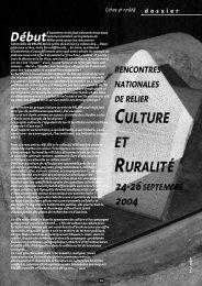 Culture et ruralité - Relier
