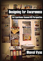 Designing for Awareness: An Experience-focused HCI Perspective