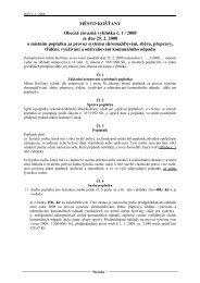 Obecně závazná vyhláška č. 1 / 2008 o místním poplatku ... - Košťany