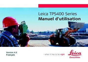 Leica TPS400 Series Manuel d'utilisation