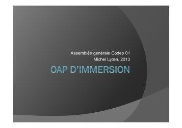 Assemblée générale Codep 01 Michel Lyœn, 2013 - ffessm
