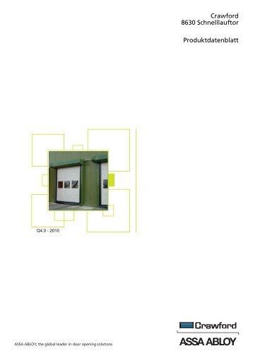 Crawford 8630 Schnelllauftor Produktdatenblatt - Crawford hafa GmbH