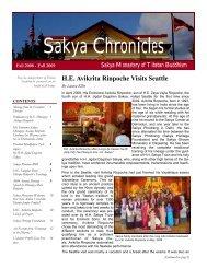 Sakya Chronicles: 2009 - the Sakya Monastery of Tibetan Buddhism