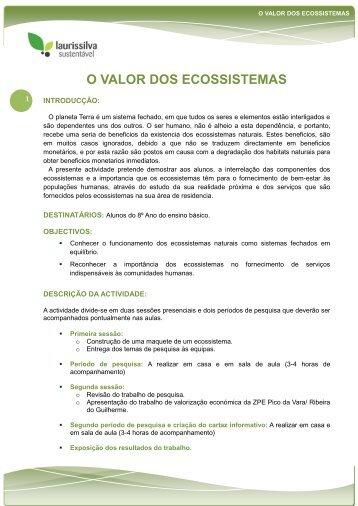 O VALOR DOS ECOSSISTEMAS - Centro Ambiental do Priolo - spea