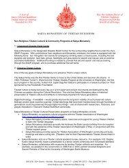 Cultural Programs - the Sakya Monastery of Tibetan Buddhism