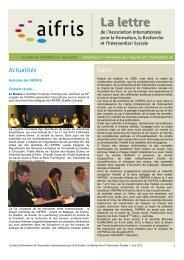 Télécharger la Lettre N°9 (Format PDF) - AIFRIS