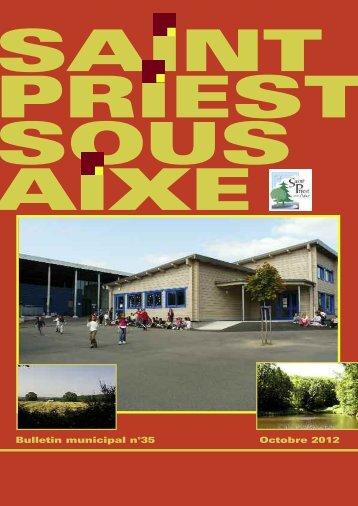 Octobre 2012 Bulletin municipal n°35 - Saint-Priest-sous-Aixe