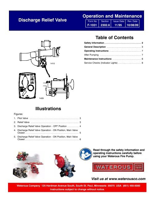 Sec. 2302-6, Discharge Relief Valve Operation Instructions ... on