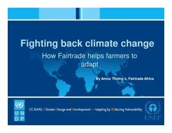 Amos Thiong'o, Fairtrade Africa, Presentation - African Climate