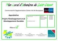 Approbation Projet d'Aménagement et de ... - Le Grand Chalon