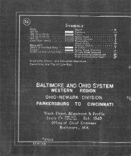 B&O Ohio Division Track Chart