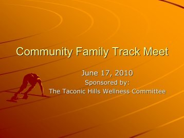 Community Family Track Meet - Taconic Hills Central School District