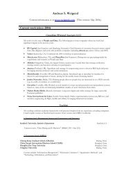 Resume - Andreas S. Weigend, Ph.D.