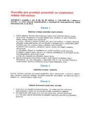 Pravidla pro prodeje pozemků ve vlastnictví města Harrachov