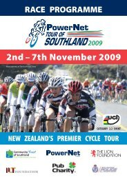 2nd – 7th November 2009 - Tour of Southland