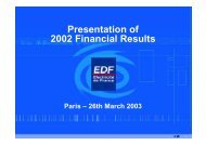 The presentation of 2002 Annual Results - 03/27/2003 (263 Kb)