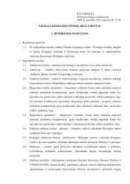 PATVIRTINTA Vilniaus kolegijos direktoriaus 2008 m. gruodžio 29 d ...