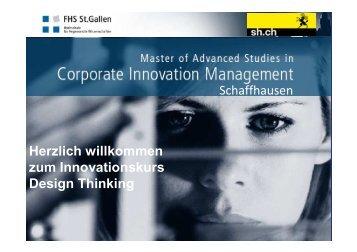 Zentrales Modul Â«Design Thinking